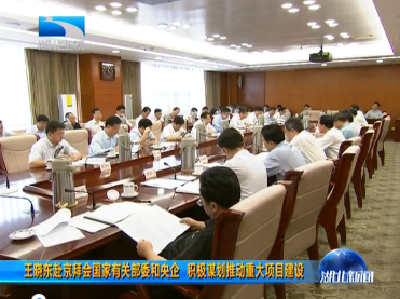 王晓东赴京拜会国家有关部委和央企  积极谋划推动重大项目建设