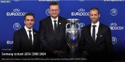 欧足联宣布德国成为2024年欧洲杯举办国