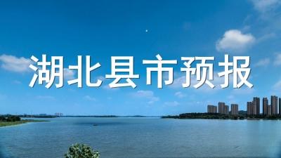 湖北78县市天气预报(10月24日发布)