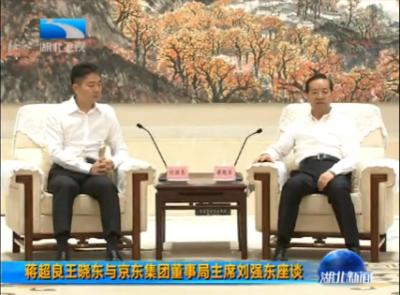 蒋超良王晓东与京东集团董事局主席刘强东座谈