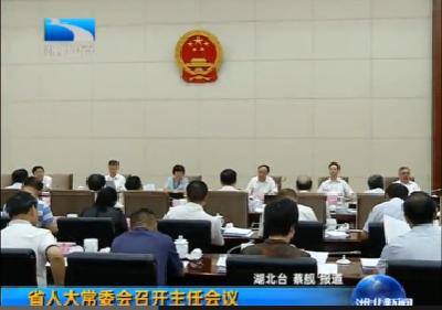 V视 | 湖北省人大常委会召开主任会议