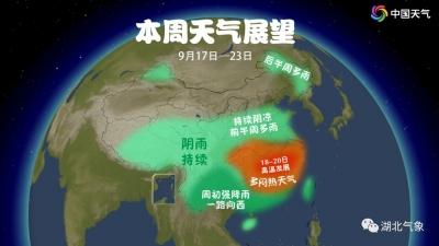 武汉今起三天最高气温直逼35℃,中秋小长假大风降温