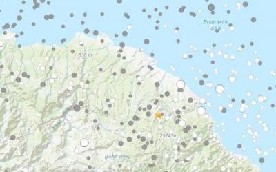 巴布亚新几内亚东部发生5.4级地震 震源深度49.9公里