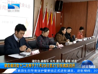 V视丨湖北省妇女十二大将于11月25日至27日在武汉召开