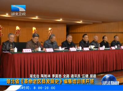 V视丨湖北省《革命老区县发展史》编纂培训班开班