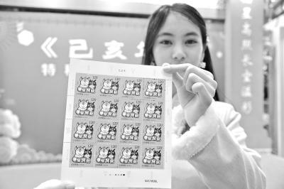 """新一套猪年生肖邮票在汉发行 5只萌猪寓意""""五福齐聚"""""""