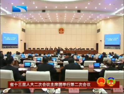 V视 | 湖北省十三届人大二次会议主席团举行第二次会议
