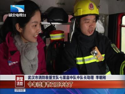 春节我在岗丨黄鹤楼、归元寺迎客流高峰,消防员坚守保平安!