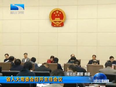 V视|湖北省人大常委会召开主任会议
