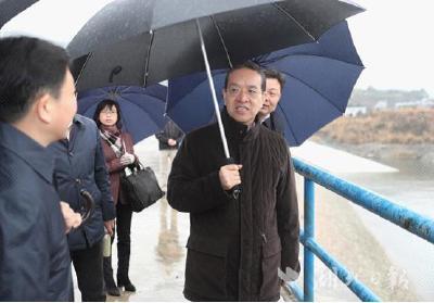 蒋超良调研长江经济带生态保护和长江防汛准备工作