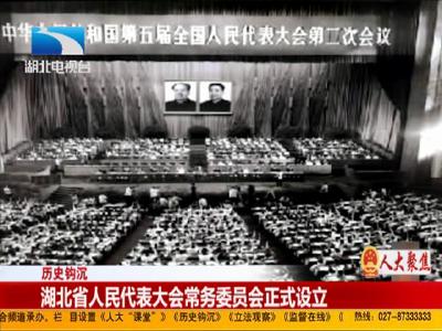 历史钩沉:湖北省人民代表大会常务委员会正式设立