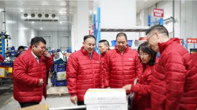 国家邮政局局长马军胜调研武汉亚洲一号