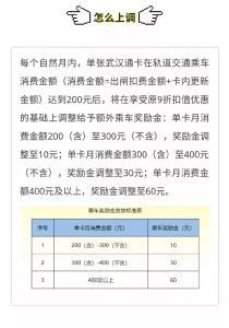 省錢攻略來了!武漢坐地鐵最低7.7折,還有獎勵金拿!