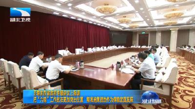 """V视丨王晓东在湖北省政府专题会议上强调 把""""六稳""""工作放在更加突出位置 精准施策担当作为保稳定促发展"""