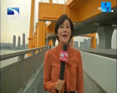 武漢楊泗港長江大橋通車 緩解過江交通壓力