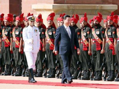 国家主席习近平抵达印度金奈出席中印领导人第二次非正式会晤