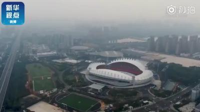 飞阅军运会——央媒探访武汉体育中心