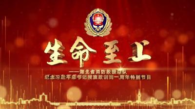 《生命至上》丨湖北省消防救援总队纪念习近平总书记授旗致训词一周年特别节目(上)