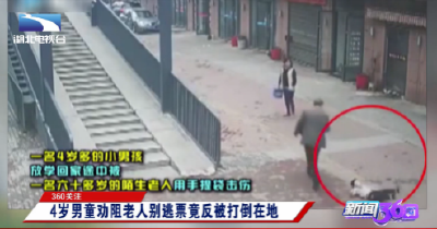 360关注:4岁男童劝阻老人别逃票竟反被打倒在地