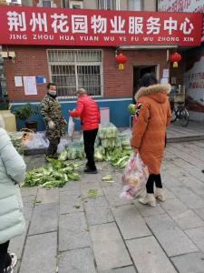免费蔬菜送居民 非常时期见真情丨众志成城抗疫情