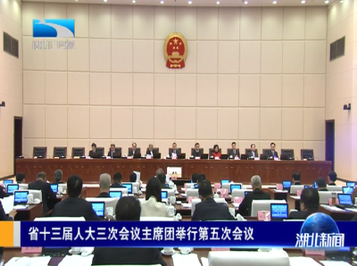 省十三届人大三次会议主席团举行第五次会议