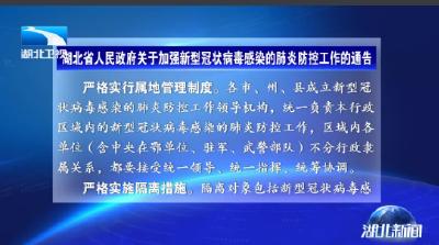 V视 | 湖北启动突发公共卫生事件II级应急响应