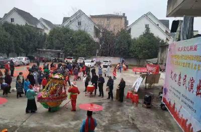 民俗文化来助阵 消防宣传进小区