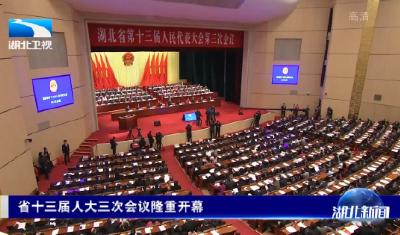 V视   湖北省十三届人大三次会议隆重开幕