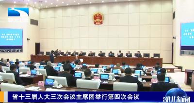 省十三届人大三次会议主席团举行第四次会议
