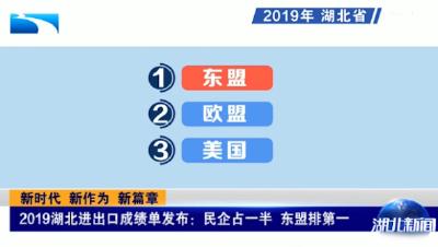 V视丨新时代 新作为 新篇章 2019湖北进出口成绩单发布:民企占一半 东盟排第一