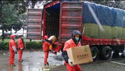 """一方有难 八方支援  鄂粤情深 38万元广东农产品助力荆州抗""""疫""""一线"""
