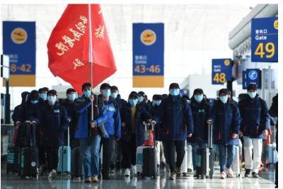八方驰援!一天40余架医疗队航班,5000多名医护人员抵达武汉!