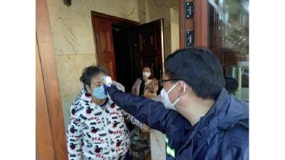 武汉市蔡甸区全员上阵拉网式排查 做到不漏一户