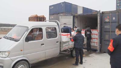 一方有难 八方支援丨湖北黄冈:云南省捐赠物资运抵麻城