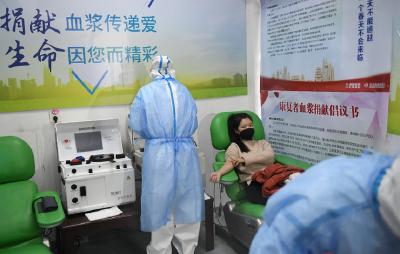 新冠肺炎痊愈后返岗 护士贾娜又挽起袖子献血浆捐献300毫升血浆