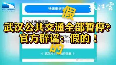 官方回应:武汉暂停全市公共交通系谣言!