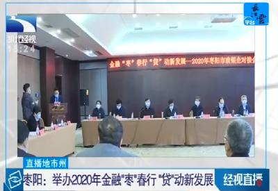 """枣阳:举办2020年金融""""枣""""春行""""贷""""动新发展"""