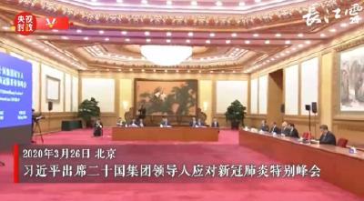 习近平出席二十国集团领导人应对新冠肺炎特别峰会并发表重要讲话
