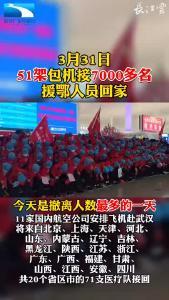 51架包机接7000多名援鄂人员回家!