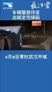 车辆整装待发,武汉出城全凭绿码