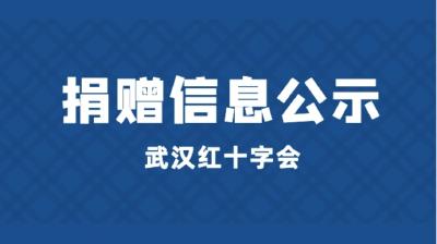 武汉市红十字会接收社会捐赠资金公示第70期(4月1日)