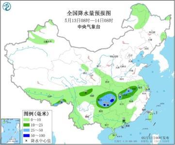 湖北等长江中下游地区未来三天将迎较强降雨 北方部分地区有大风沙尘