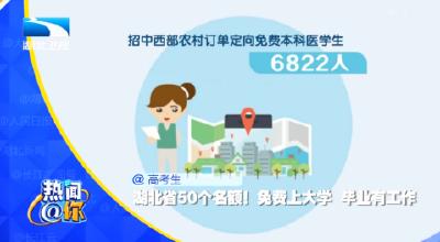 @高考生 湖北省50个名额!免费上大学 毕业有工作