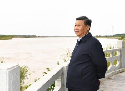 第一观察 这条大河,习近平总书记一年内考察四次