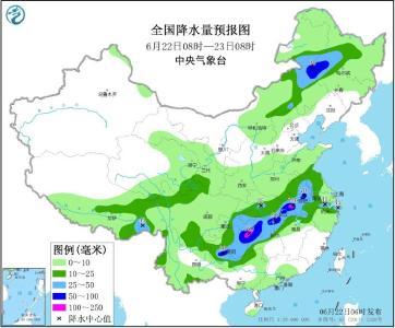 长江中下游等地有持续强降雨 东北地区等地多降雨