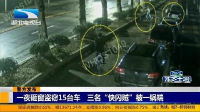 """【警方发布】一夜砸窗盗窃15台车 三名""""快闪贼""""被一锅端"""