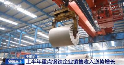 中国钢铁工业协会:上半年重点钢铁企业销售收入逆势增长