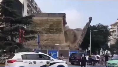 西安明秦王府坍塌砌体,已有修复方案