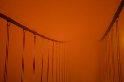 """山火遮天蔽日,美国加州正午""""烧""""成黄昏……"""