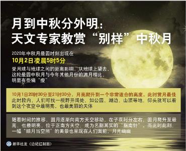 """月到中秋分外明:天文专家教赏""""别样""""中秋月"""